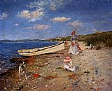 Famous Bay Paintings - A Sunny Day at Shinnecock Bay