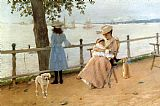 Famous Bay Paintings - Afternoon by the Sea aka Gravesend Bay