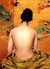 Nude Canvas Paintings - Back of a Nude