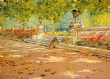 Park Canvas Paintings - Terrace Prospect Park