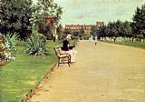 Park Canvas Paintings - The Park