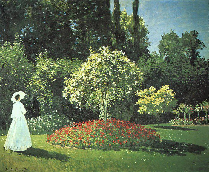 Claude Monet Jeanne-Marguerite Lecadre in the Garden