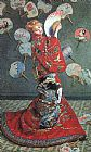 Claude Monet Canvas Paintings - Camille Monet in Japanese Costume