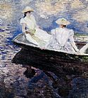 Claude Monet Girls In A Boat painting