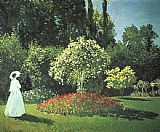Claude Monet Canvas Paintings - Jeanne-Marguerite Lecadre in the Garden