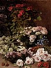 flowers Canvas Paintings - Monet Spring Flowers