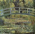 Claude Monet Canvas Paintings - Monet The Waterlily Pond