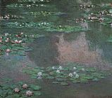 Claude Monet Canvas Paintings - Monet Water Lillies I
