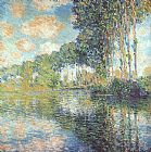 Claude Monet Canvas Paintings - Poplars on the Epte