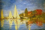 Claude Monet Regatta At Argenteuil painting