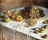 Life Canvas Paintings - Still Life Apples And Grapes