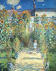 Claude Monet Canvas Paintings - The Artist Garden at Vetheuil