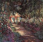 Claude Monet Canvas Paintings - The garden in flower