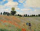 Famous Poppies Paintings - Wild Poppies Near Argenteuil