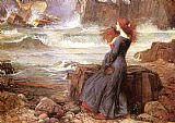 John William Waterhouse Famous Paintings - Miranda - The Tempest