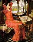 John William Waterhouse Canvas Paintings - said the Lady of Shalott