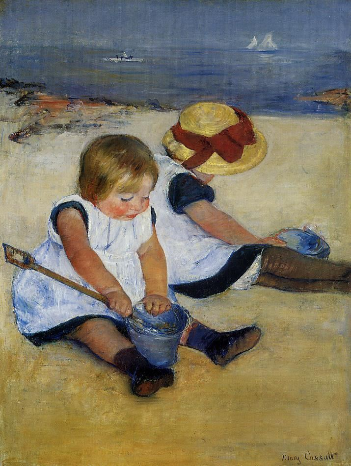 Mary Cassatt Children on the Shore