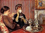 Mary Cassatt Canvas Paintings - Tea